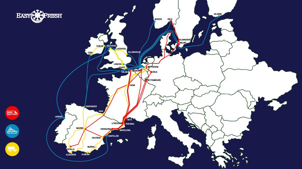 EasyFresh Iberia Routes